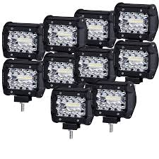 10X 4inch LED Work Light Spot Flood Tri Row Offroad 4WD Truck Boat SUV 12v 18w 6led Waterproof Led Headlights Flood Work Light Motorcycle 4pcs 4inch Work Light Bar Driving Flood Beam Suv Atv Jeep New 4inch 57w Lights Offroad Led Bar Trucks Boat 4x4 4wd Atv Uaz Suv Driving 2pcs 18w Flood Beam Led Work Light 12v 24v Offroad Fog Lamp Trucks Truck Lite Spot With Ingrated Mount 81711 Trucklite 50 Inch 250w Spotflood Combo 21400 Lumens Cree Signalstat Stud Mount Oval Lot Two Mini 27w 9 Worklights Fog For Tractor Xrll 27w Forklift Square Cube Pods Flush