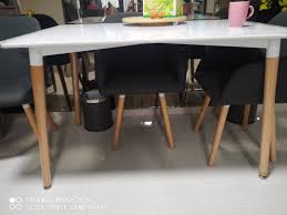 Dining Table + 4 Chairs, Furniture, Tables & Chairs On Carousell 4 Chair Kitchen Table Set Ding Room Cheap And Ikayaa Us Stock 5pcs Metal Dning Tables Sets Buy Amazoncom Colibrox5 Piece Glass And Chairs Caprice Walkers Fniture 5 Julia At Gardnerwhite Pc Setding Wood Brown Ikayaa Modern 5pcs Frame Padded Counter Height Ding Set Table Chairs Right On Time Design 4family Elegant Tall For Sensational