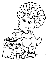 Free Barney Coloring Book Pages 07
