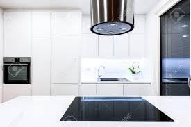 100 Modern Residential Interior Design New White Kitchen With Kitchen Appliances