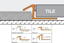 schluter reno tk tile edge protection floor transition profiles
