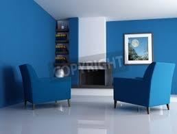 fototapete moderne kamin ina blau wohnzimmer mit bild in der wand digital