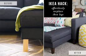 Klik Klak Sofa Ikea by How To Raise A Sofa Ikea Hack Replacing Legs On An Ikea Couch The