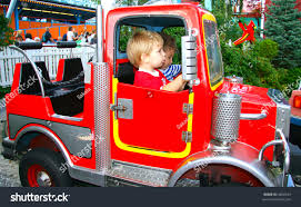 Firetruck Entertainment Park With Kids Riding Stock Photo (Edit Now ...