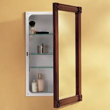medicine cabinets interesting wood recessed medicine cabinet led