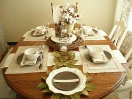 Kitchen Table Decorating Ideas by Table Setting Ideas Kitchen House Ideas Nature Inspired