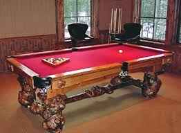 Burl Style Billiard Table