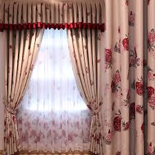 rideaux chambres à coucher nouveau de luxe rideaux pour salon avec cantonnière impression