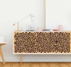 wandtattoo ornament leopard muster tier