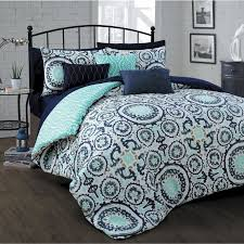 Brilliant Navy Blue King Size forter Fraufleur Pertaining To