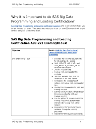 Pearson Exam Copy Book Bag by A00 221 Certification Guide And How To Clear Exam On Sas Big Data