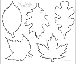 oil and blue FALL LEAF LINE DRAWING TEMPLATE free printable