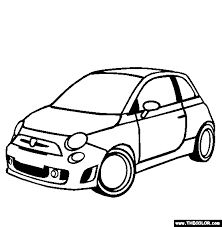 Fiat Abarth 500C Coloring Page