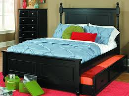 1356fprbk 1r morelle cottage kids black wood full captain bed
