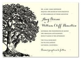 Oak Tree Wedding Invitations On Handmade Paper