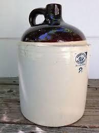 Vintage Love Field Potteries Dallas Texas 2 Gallon Stoneware Jug