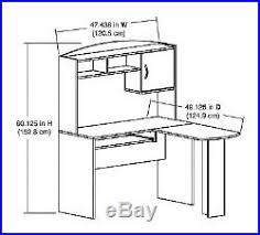 Mainstays L Shaped Desk With Hutch by Corner Computer L Shaped Desk Hutch Board Table Office Furniture New