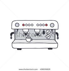Doodle Icon Professional Coffee Machine Vector Stock Rh Shutterstock Com Break Clip Art