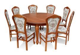 klassischer rund runder tisch holz design esszimmer tische 8 stühle konferenz