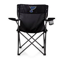 100 Folding Chairs With Arm Rests PTZ Chair Black St Louis Blues Digital Print PICNIC TIME