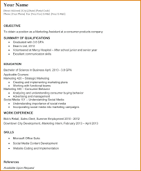 Sample Recent College Graduate Resume Student Template Download