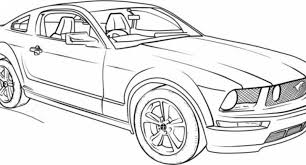 Ford Mustang Coloring Pages Regarding Invigorate To Color An Images