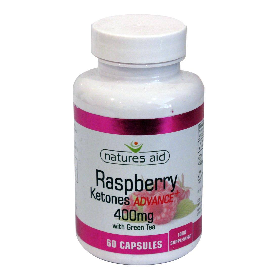 Natures Aid Raspberry Ketones Advance - 60 Capsules