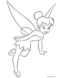 Download Coloring Pages Disney Fairies Tinker Bell Printable