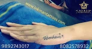 InkMan Tattoo Studio On Twitter Bonheur Wrist Tattoos