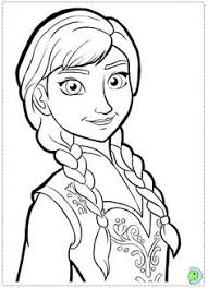 Frozen Anna Pic Coloring Pages Printable