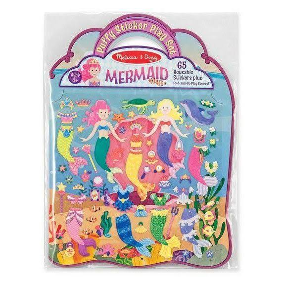 Melissa & Doug Reusable Puffy Stickers - Mermaids