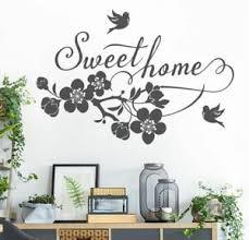 details zu wandtattoo home sweet home spruch familie ranke ast wohnzimmer wand deko w309c