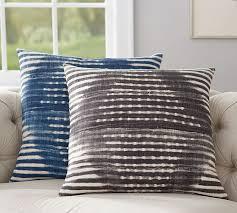 Pottery Barn Decorative Pillows by Diamond Shibori Print Pillow Cover Pottery Barn
