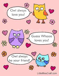 Valentines Owl Talk Coloring Page