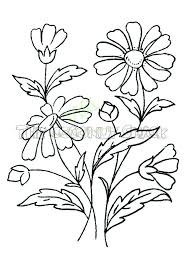 Easy Drawing Bunch Flowers Bouquet Flowers Drawing
