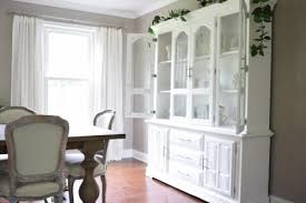 Gorgeous White Dining Room Hutches O A Brick Home