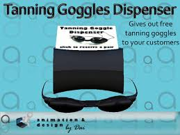 Tanning Bed Goggles by Second Life Marketplace Salon Tanning Goggles Dispenser Box