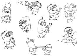 11 Pics Of Minion Movie Coloring Pages Printable Free