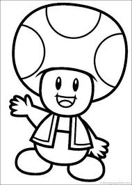 Mario Toad Coloring Pages