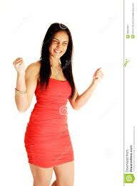 excited teen girl in dress royalty free stock photography image