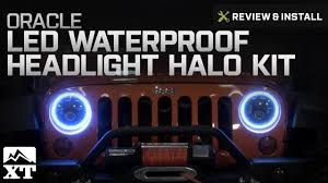 Jeep Wrangler 2007 2017 JK Oracle LED Waterproof Headlight Halo