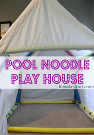 using pool noodles to build a play house pool noodles play