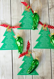 Pickle On Christmas Tree Myth by Christmas Pickle Ornament Free Printable Frog Prince Paperie
