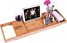 luxury bamboo bathtub caddy bath tub tray with extending sides