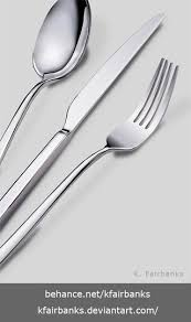 Digital drawing of silverware utensils Media Illustrator DigitalArt StillLife Utensils