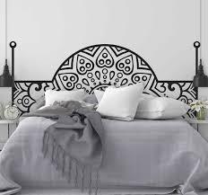 wandtattoo bett arabisches schlafzimmer kopfteil