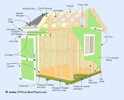 8 X 10 Gambrel Shed Plans by Illustrated Shed Plans Diy Building Guide