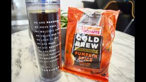 Dunkin Pumpkin Spice K Cups by Dunkin U0027 Donuts Cold Brew Coffee Packs Pumpkin Spice Review Holiday