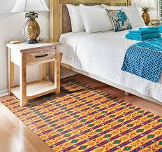 vinyl teppich küche blauer grüner gelber stammes südafrikaner
