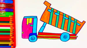 How To Draw Dump Truck For Kids Coloring Pages Art Color With ... How To Draw Dump Truck Coloring Pages Kids Learn Colors For With To A Art For Hub Trucks Boys Make A Cake Hand Illustration Royalty Free Cliparts Vectors Printable Haulware Operations Drawing Download Clip And Color Page Online